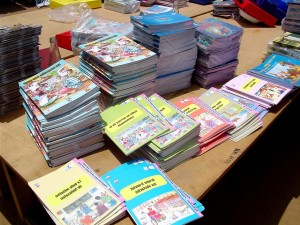 new, textbooks, written, Senegal, Senegalese, students