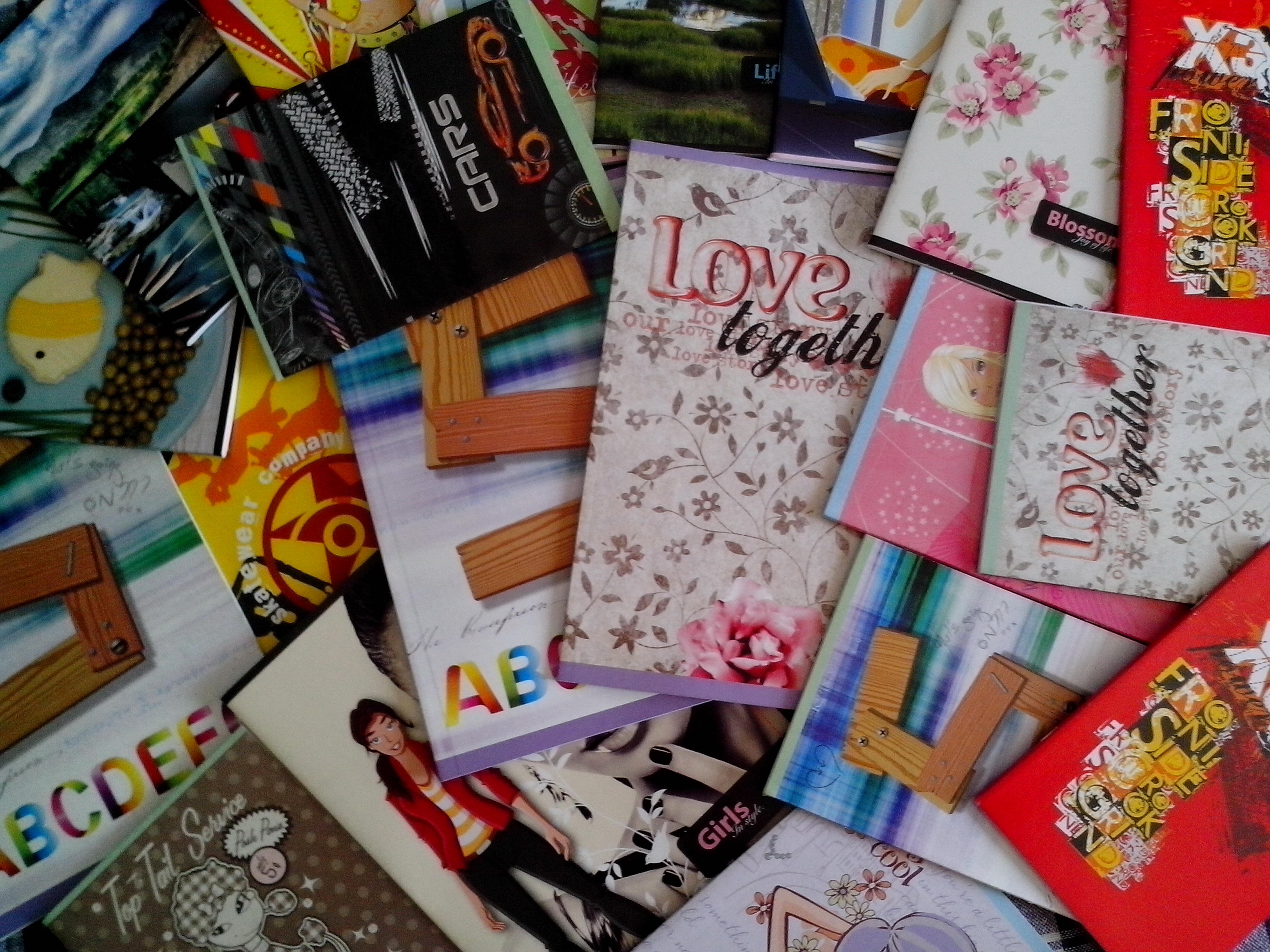 Free photograph; notebooks, students, first, graders