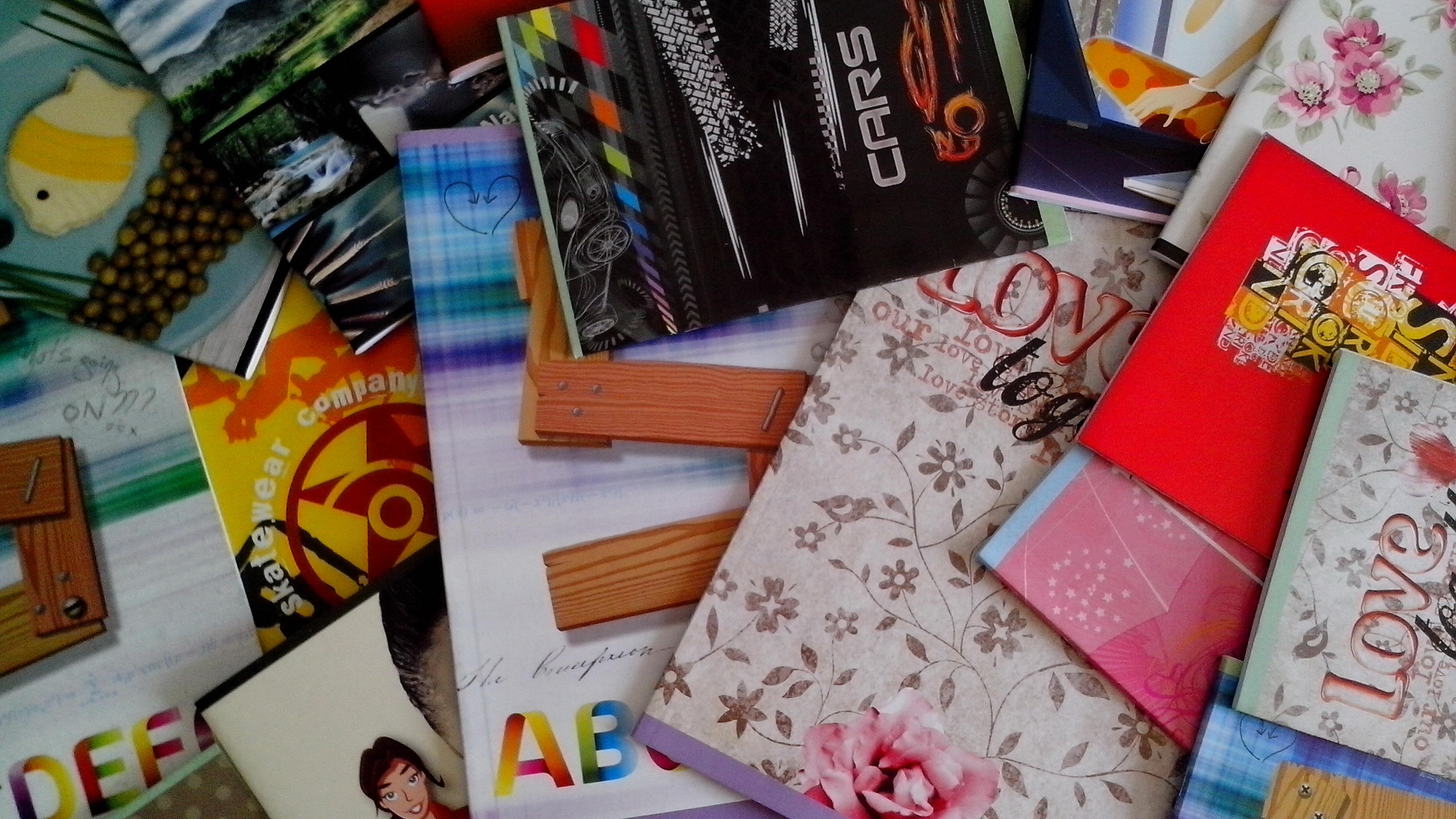 Free photograph; primary, school, notebooks, format