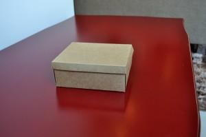 brun, décoratif, cadeau, boîte