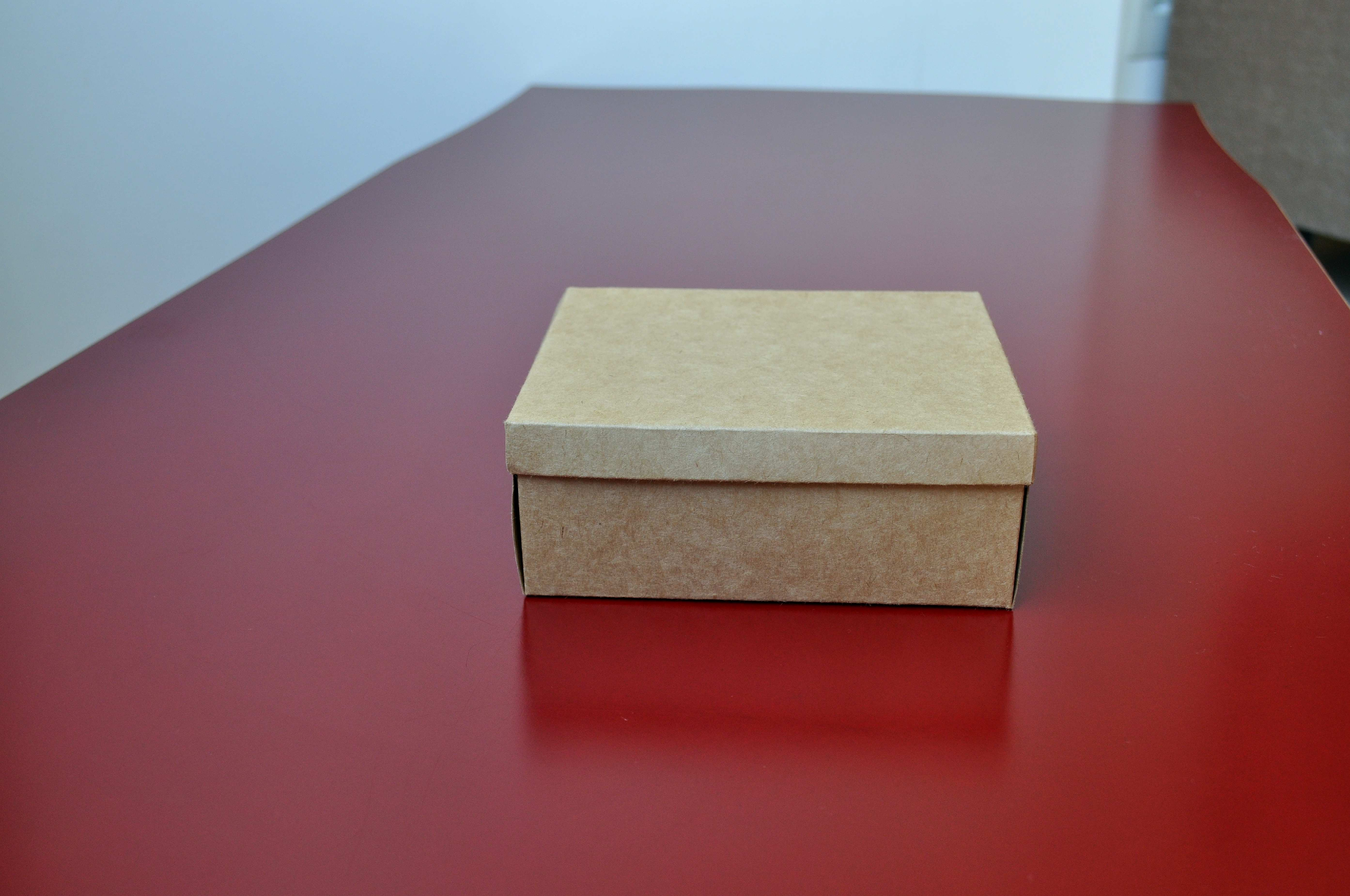 Free photograph; brown, gift, box, red, table