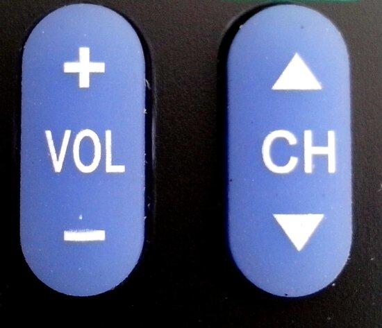 boutons, volume, vers le bas, les canaux