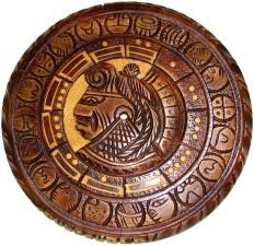 calendario, nativo, americano