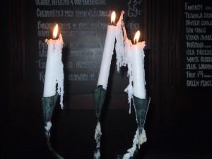 bar, candles