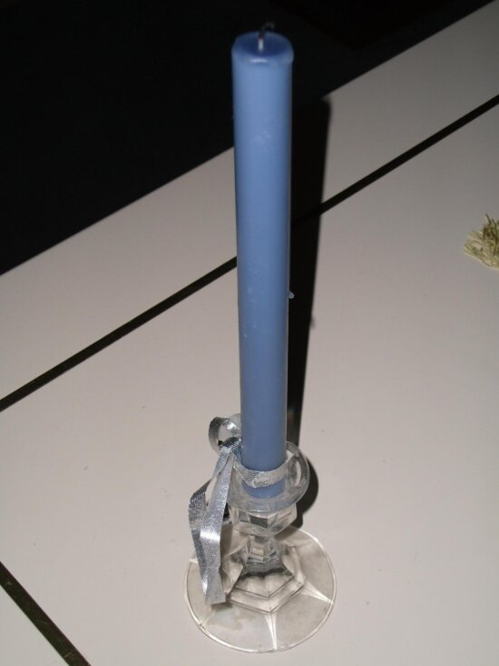 blue, candle