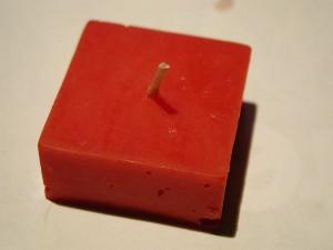 rouge, bougie, objet