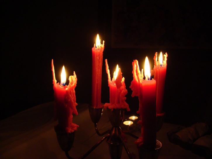 spooky, halloween, candles, dark