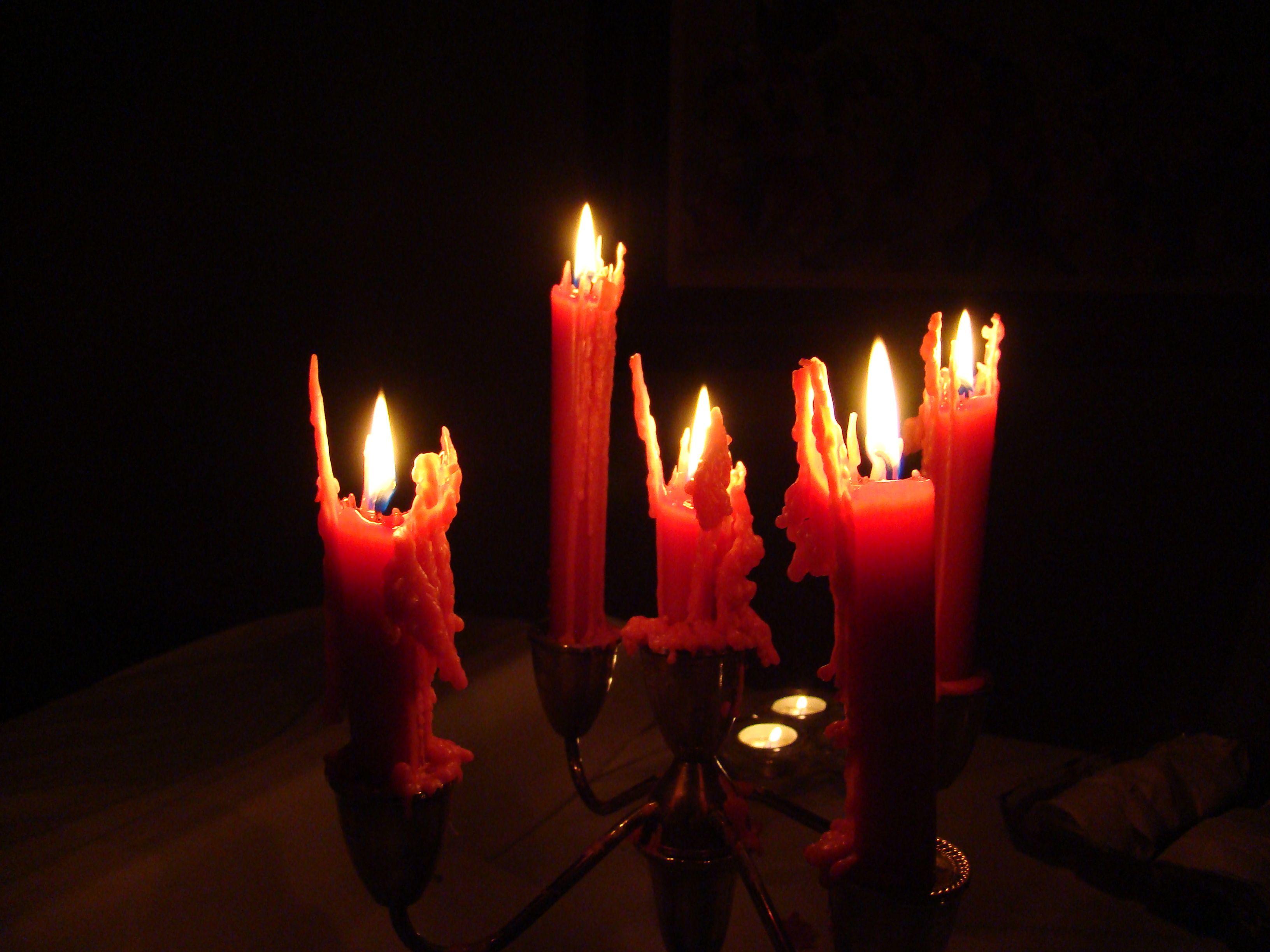 spooky halloween candles dark - Halloween Candles