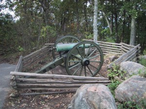 cañón, viejo, hierro, cañón