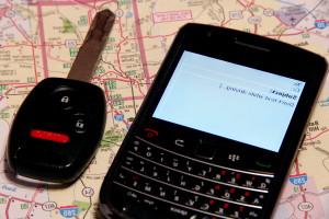 téléphone portable, automobile, clé électronique
