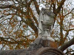 cemetery, statues, vases