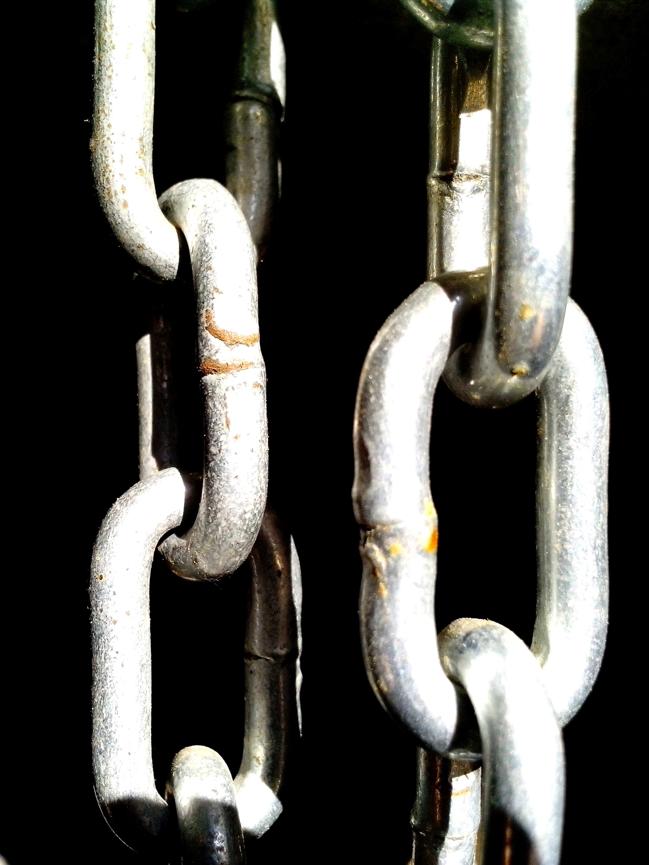 Free photograph; chrome, metal, chains