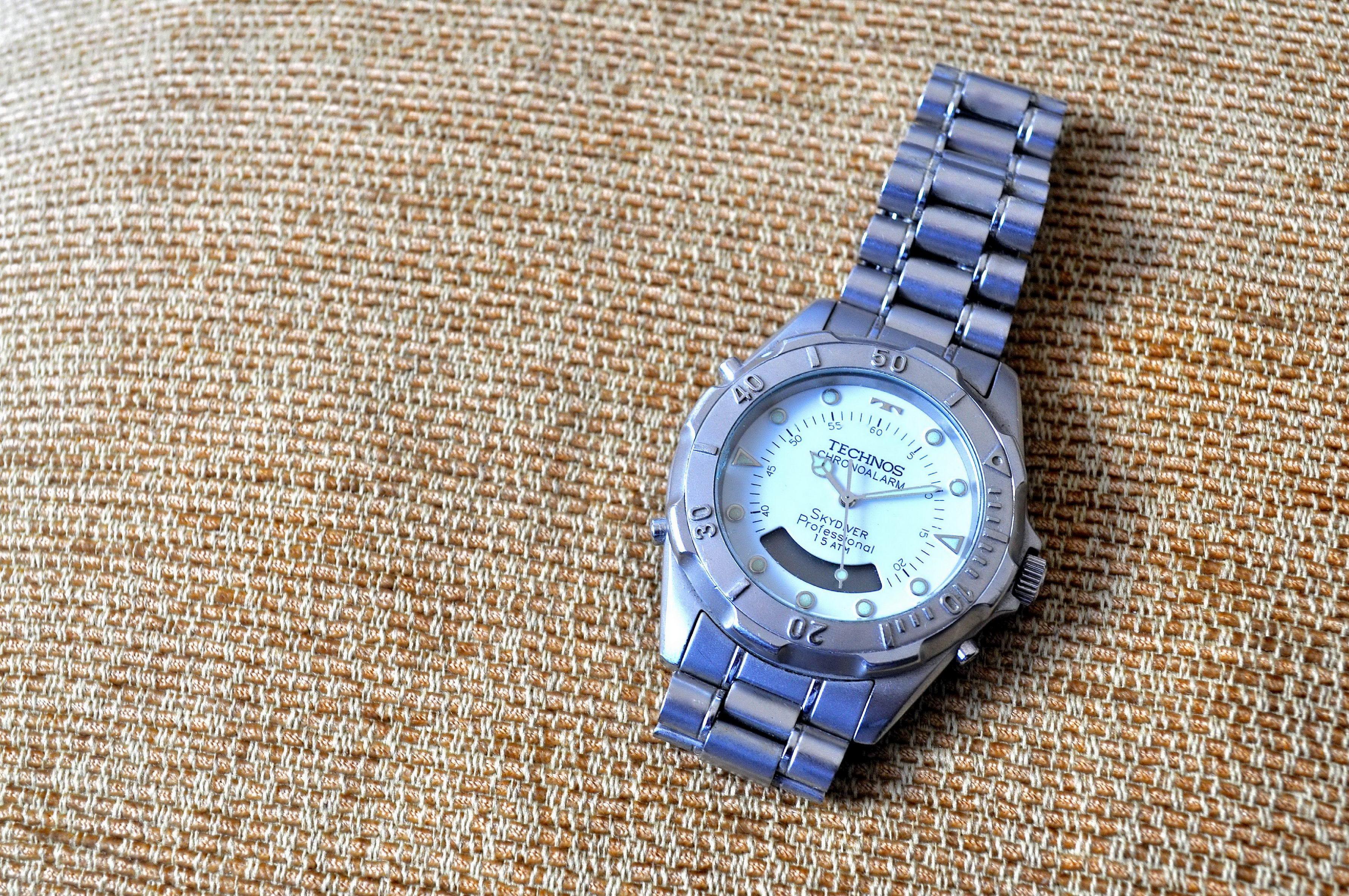 Free photograph; hand, stylish, watch