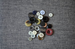 collage, buttons, canvas