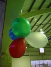 coloured, balloons