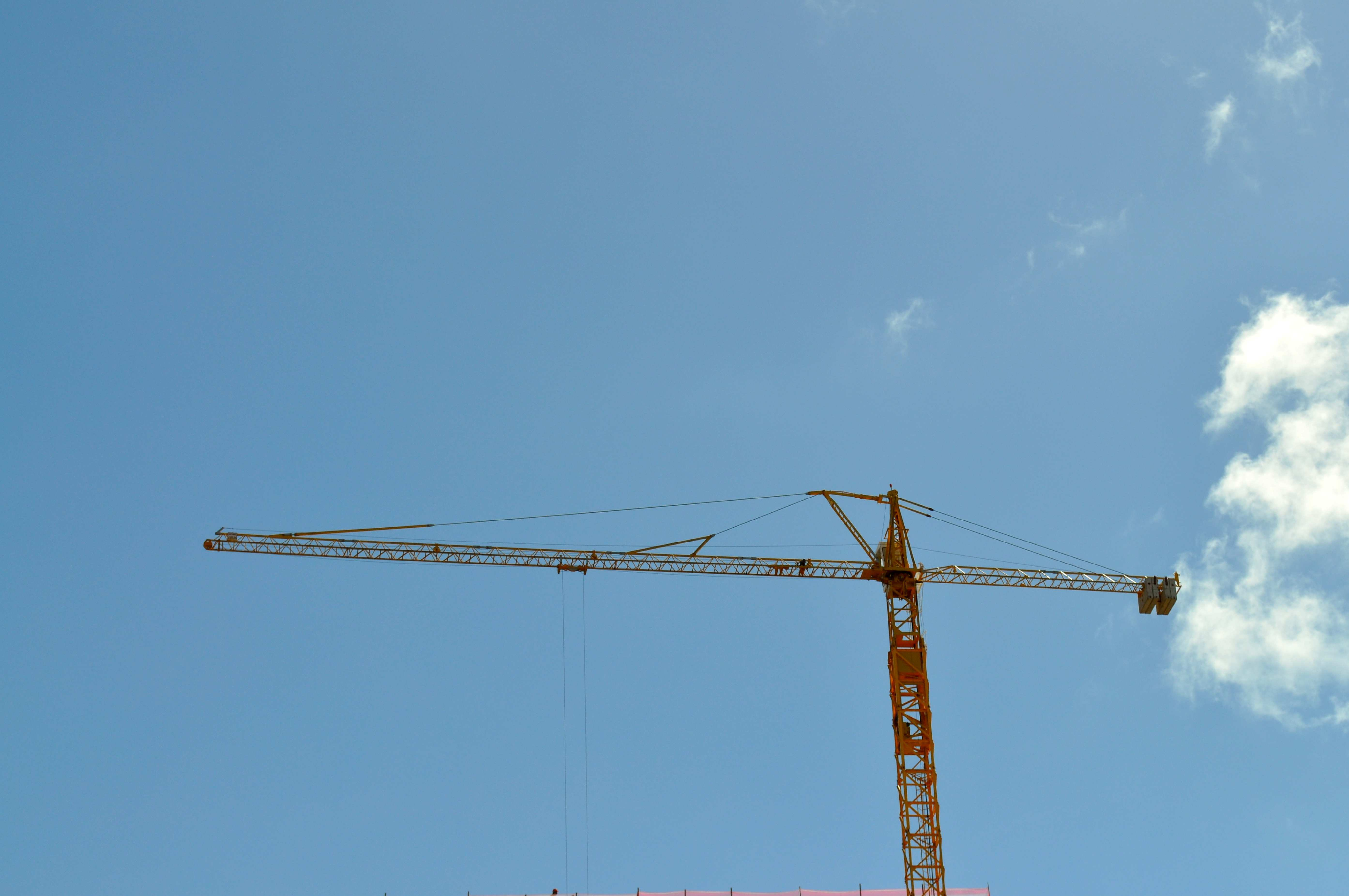 Free photograph; construction, crane