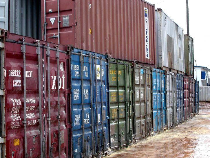 큰, 컨테이너 화물, 선박, 부두