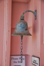 corroded, iron, work, bell