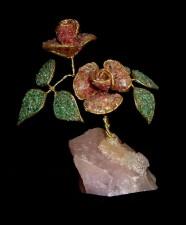 cristal, rose