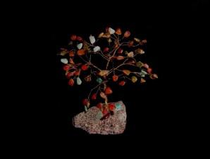 cristal, arbre