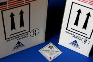 dangerous, goods, shipping, boxes, shipment, biohazardous, materials