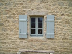 antico, finestre, pietra, casa