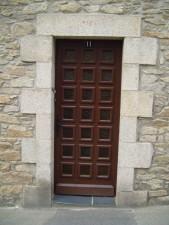 brown, door, granite, wall
