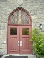porte, vieux, église