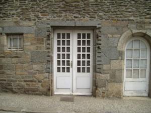 old, door, window