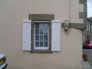 old, window, shutters
