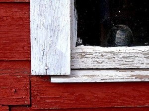 picture, old, barn, window