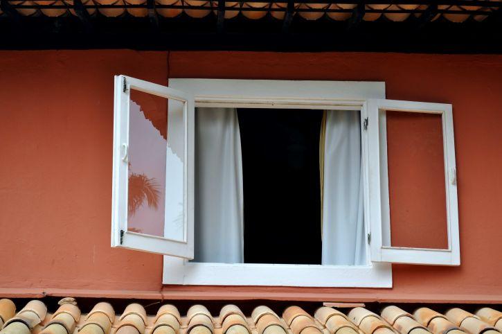 white, wooden, window, red, facade