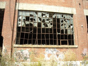 ventana, grietas, vidrio