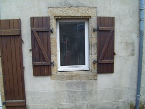 wooden, old, fashioned, window