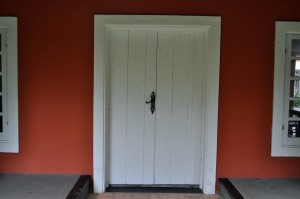 wooden, white, front, door
