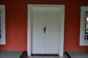 bois, blanc, devant, porte
