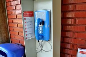 blue, telephone, wall