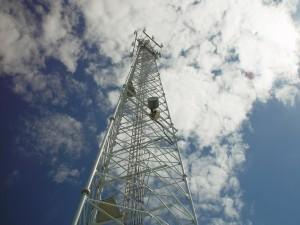 Kommunikation, Turm, erreichen, Wolken