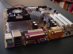 computer, motherboard, fan