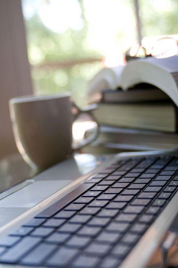 Kaffee, Tasse, Hintergrund, Computer, Tastatur, Vordergrund