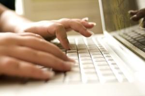 ordinateur portable, ordinateur, clavier