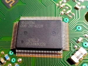 duży, komputer chip, deska