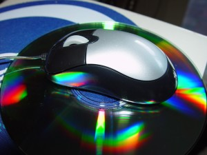 mini, mouse, rainbow, reflections