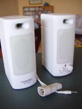 haut-parleurs, adaptateur, prise, 35mm, audio, prise