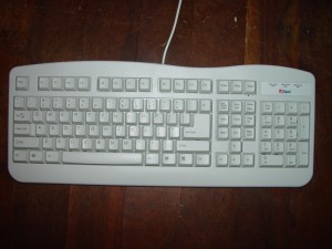 standard, hvid, computer, tastatur