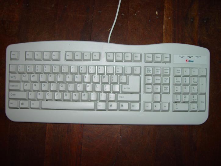Standard, weiß, Computer, Tastatur
