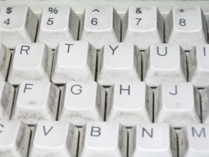 standard, white, computer, keyboard, keys