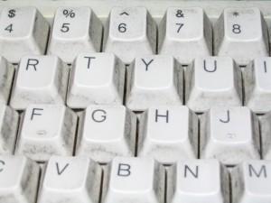 standard, white, computer, keyboard, keys