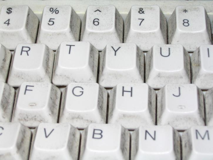 Standard, weiß, Computer, Tastatur, Tasten