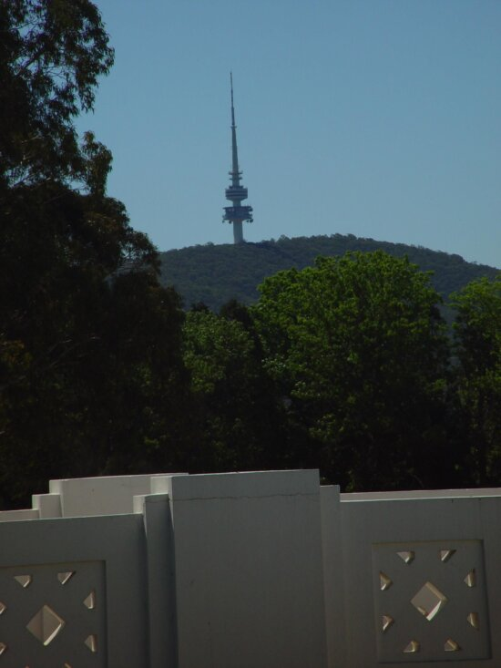 crashed, spaceship, communications, tower, canberra